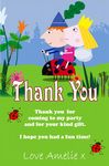 Personalised Ben and Holly Thank You Cards